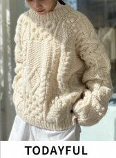 TODAYFUL (トゥデイフル)<br>Pattern Hand Knit  20秋冬予約【12020513】ニットトップス 入荷予定 : 10月中旬〜