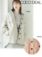 COCODEAL (ココディール)<br>フリースオーバーシャツジャケット  20秋冬【70614241】ジャケット
