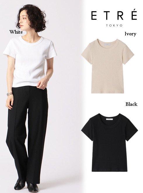 ETRE TOKYO (エトレトウキョウ)<br>コンパクトリブTee  20秋冬【1220412015】Tシャツ