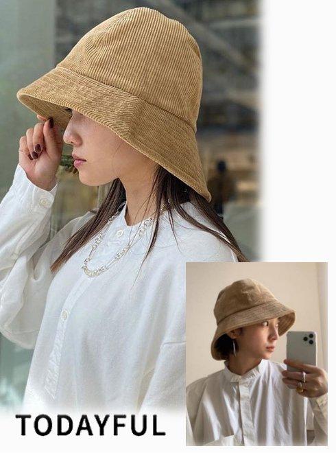 TODAYFUL (トゥデイフル)<br>Corduroy Bucket Hat  20秋冬【12021043】帽子  20fs