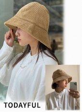 TODAYFUL (トゥデイフル)<br>Corduroy Bucket Hat  20秋冬【12021043】帽子