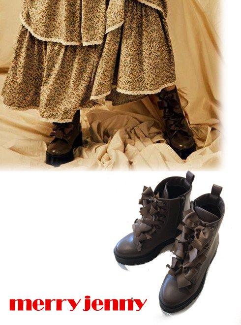 merry jenny (メリージェニー)<br>りぼんりぼんラバーソールブーツ  20秋冬【282051801501】ブーツ  20fs