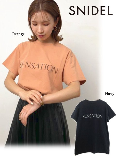 snidel (スナイデル)<br>ロゴTシャツ  20秋冬【SWCT204076】Tシャツ 20fs