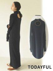 TODAYFUL (トゥデイフル)<br>Piping Rib Dress  20秋冬.【12020325】マキシワンピース 冬受注会