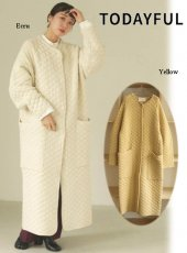 TODAYFUL (トゥデイフル)<br>'Quilting Knit Coat ' 20秋冬.予約【12020012】ニットアウター 冬受注会 入荷予定 : 11月上旬〜