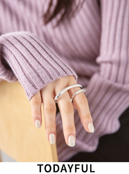TODAYFUL (トゥデイフル)<br>Double Finger Ring (Silver925)  21春夏.2【12020958  12990901】リング