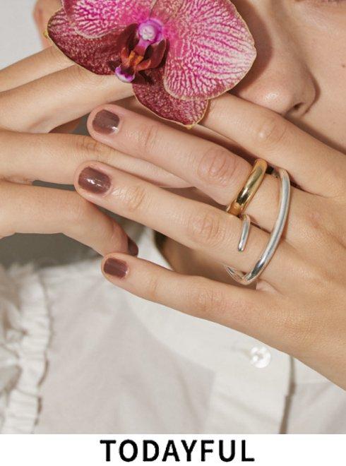 TODAYFUL (トゥデイフル)<br>'Double Finger Ring' (Silver925)  21秋冬予約2 【12020958  12990901】入荷時期:9月中旬 10月中旬&#