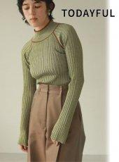 TODAYFUL (トゥデイフル)<br>Raglan Stripe Knit  20秋冬.【12020528】ニットトップス 冬受注会