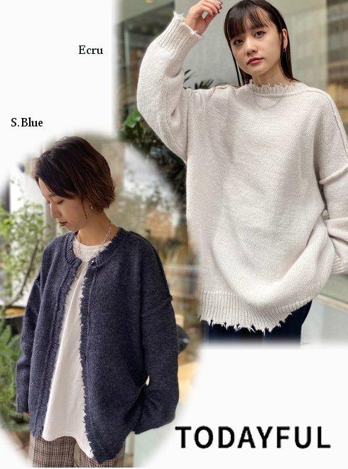 TODAYFUL (トゥデイフル)<br>Lowgauge Knit Cardigan20秋冬.【12020536】ニットトップス 20fs
