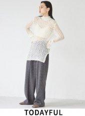 TODAYFUL (トゥデイフル)<br>Centerpress Ponte Pants  20秋冬.【12020713】パンツ 冬受注会