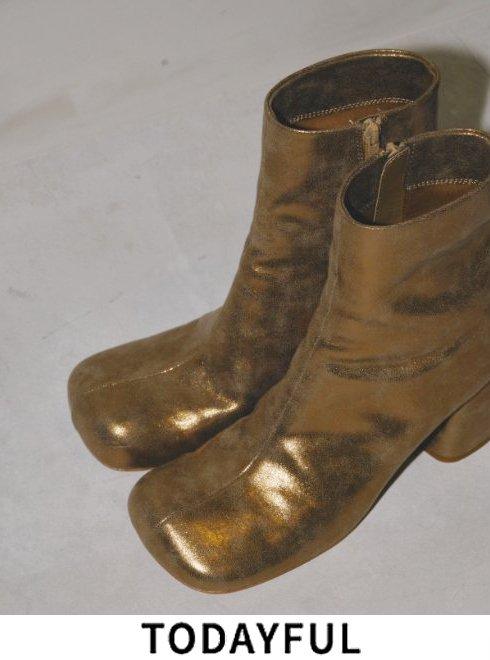 TODAYFUL (トゥデイフル)<br>Square Short Boots  21秋冬予約2【12021027】ブーツ  入荷予定 : 8月中旬〜