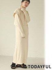 TODAYFUL (トゥデイフル)<br>Layered Knit Dress  20秋冬.【12020322】マキシワンピース 冬受注会