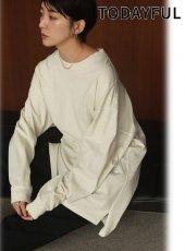 TODAYFUL (トゥデイフル)<br>Flatseam Long T-Shirts  20秋冬.【12020626】Tシャツ 冬受注会
