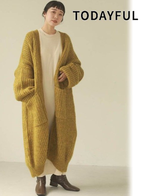 TODAYFUL (トゥデイフル)<br>Lowgauge Knit Gown  20秋冬.【12020532】ニットアウター 冬受注会