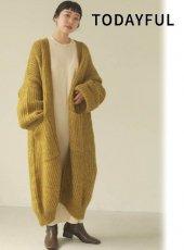 TODAYFUL (トゥデイフル)<br>Lowgauge Knit Gown  20秋冬.予約【12020532】ニットアウター 冬受注会 入荷予定 : 11月中旬〜