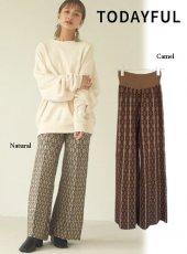 TODAYFUL (トゥデイフル)<br>'Pattern Knit Leggings'  20秋冬.予約【12020723】パンツ 冬受注会