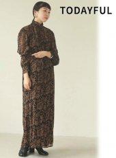 TODAYFUL (トゥデイフル)<br>Georgette Leaf Dress  20秋冬.予約【12020320】マキシワンピース 冬受注会 入荷予定 : 11月中旬〜