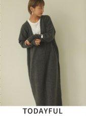 TODAYFUL (トゥデイフル)<br>Raccoon Knit Dress  20秋冬.予約【12020324】マキシワンピース 冬受注会 入荷予定 : 12月中旬〜