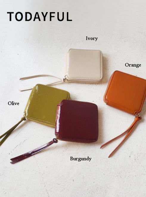 TODAYFUL (トゥデイフル)<br>Leather Square Wallet  20秋冬.予約【12021033】その他 冬受注会