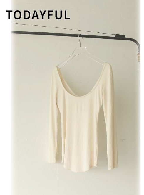 TODAYFUL (トゥデイフル)<br>Dualwarm Cup-in Tops  20秋冬.【11920625】カットソー 冬受注会