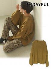 TODAYFUL (トゥデイフル)<br>Line Over Knit  20秋冬.予約【12020516】ニットトップス 冬受注会 入荷予定 : 12月中旬〜