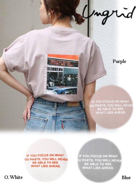 Ungrid (アングリッド)<br>カラーフォトTee  20秋冬【112042724901】Tシャツ