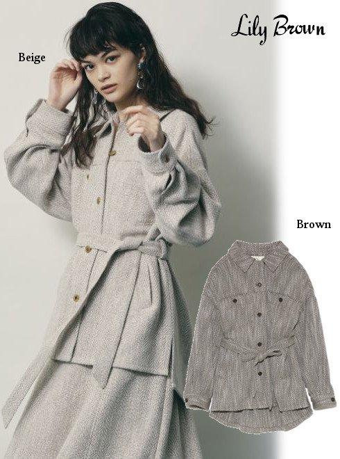 Lily Brown (リリーブラウン)<br>ビッグシルエットシャツジャケット  20秋冬【LWFJ204091】ジャケット 20fs