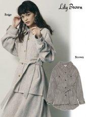 Lily Brown (リリーブラウン)<br>ビッグシルエットシャツジャケット  20秋冬【LWFJ204091】ジャケット