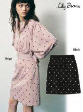 Lily Brown (リリーブラウン)<br>小紋刺繍スカート  20秋冬【LWFS204034】タイトスカート
