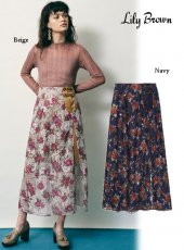 Lily Brown (リリーブラウン)<br>プリントレーススカート  20秋冬【LWFS204006】フレアスカート