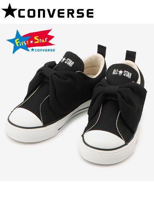 converse (コンバース)<br>CHILD ALL STAR N RIBBONBELT V-1 OX ブラック  20秋冬【37300671】スニーカー