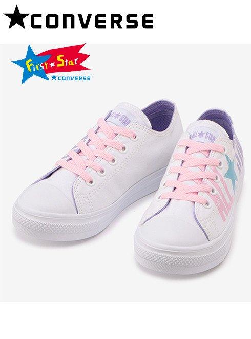 converse (コンバース)<br>CHILD ALL STAR LIGHTPASTELLOGO OX ホワイト  【37300730】スニーカー