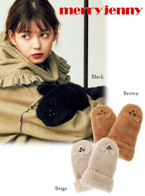 merry jenny (メリージェニー)<br>'bearグローブ'  20秋冬.【282051000801】手袋 20fs