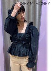 Honey mi Honey (ハニーミーハニー)<br>taffeta blouse  20秋冬.【20A-TA-38】シャツ・ブラウス
