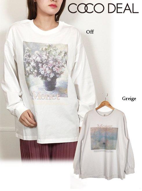 COCODEAL (ココディール)<br>グラフィックロンT  20秋冬.【70621213】Tシャツ