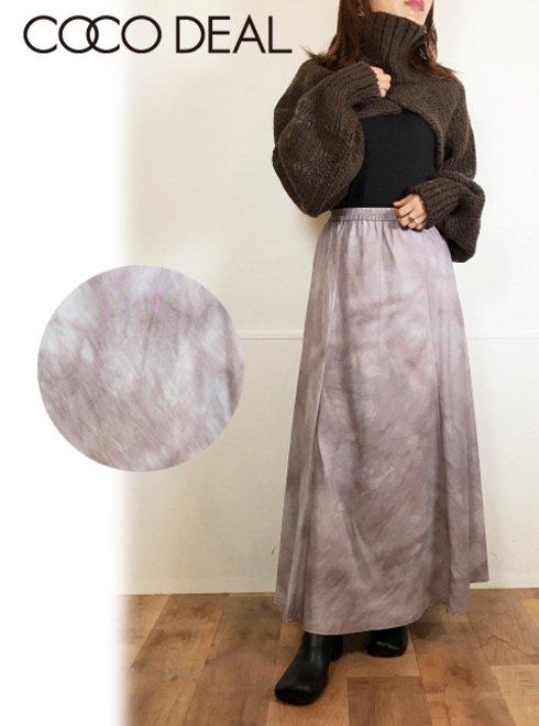 COCODEAL (ココディール)<br>モザイクプリントバイアススカート  20秋冬.【70617362】フレアスカート 20fs