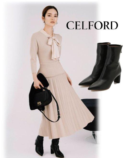 CELFORD (セルフォード)<br>ポインテッドショートブーツ  20秋冬.【CWGS205501】ブーツ