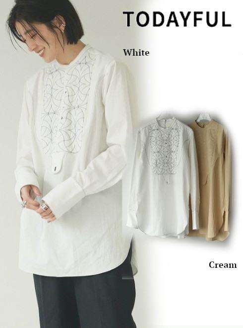 TODAYFUL (トゥデイフル)<br>Quilting Dress Shirts  21春夏予約2 【12110413】シャツ・ブラウス 入荷予定 : 5月中旬〜  春受注会