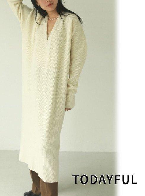 TODAYFUL (トゥデイフル)<br>Wholegarment Knit Dress  21春夏予約【12110313】マキシワンピース 入荷予定 : 1月中旬〜  春受注会