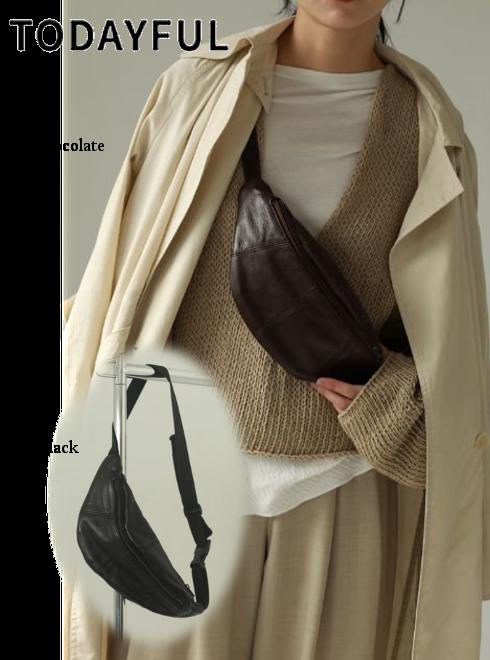 TODAYFUL (トゥデイフル)<br>Leather Zip Sacoche 21春夏【12111004】ハンド・ショルダーバッグ