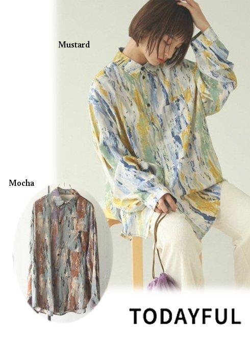 TODAYFUL (トゥデイフル)<br>Paint Rough Shirts 21春夏【12110416】シャツ・ブラウス   春受注会