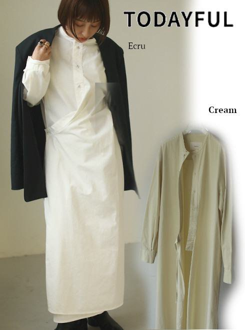 TODAYFUL (トゥデイフル)<br>Asymmetry Shirts Dress  21春夏予約【12110315】マキシワンピース 入荷予定 : 1月中旬〜