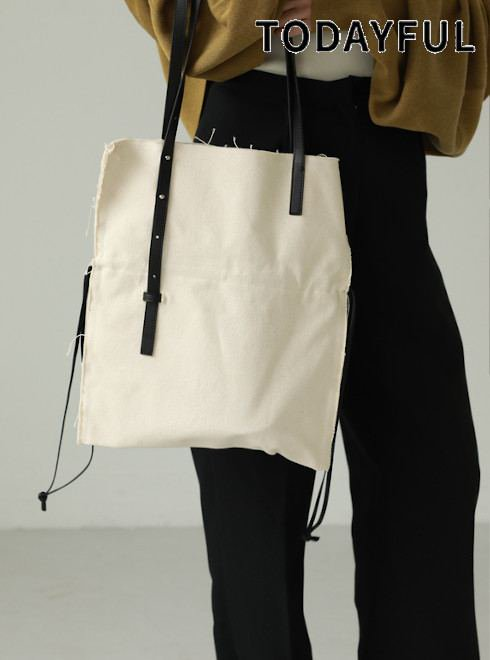 TODAYFUL (トゥデイフル)<br>Canvas x Leather Tote  21春夏予約【12111012】トートバッグ 入荷予定 : 4月中旬〜  春受注会