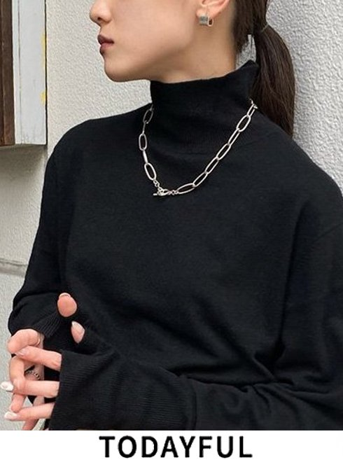 TODAYFUL (トゥデイフル)<br>Oval Chain Necklace (Silver925)  21春夏.【12110927】ネックレス