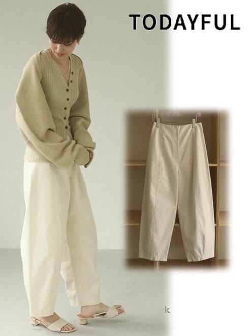 TODAYFUL (トゥデイフル)<br>Cotton Tapered Pants  21春夏【12110712】パンツ  春受注会