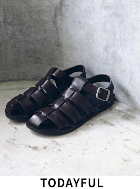 TODAYFUL (トゥデイフル)<br>'Leather Belt Sandals'  21春夏予約【12111005】サンダル 春受注会 入荷予定 : 一部3月中旬〜