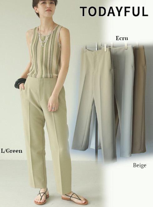 TODAYFUL (トゥデイフル)<br>Centerpress Trousers  21春夏【12110704】パンツ