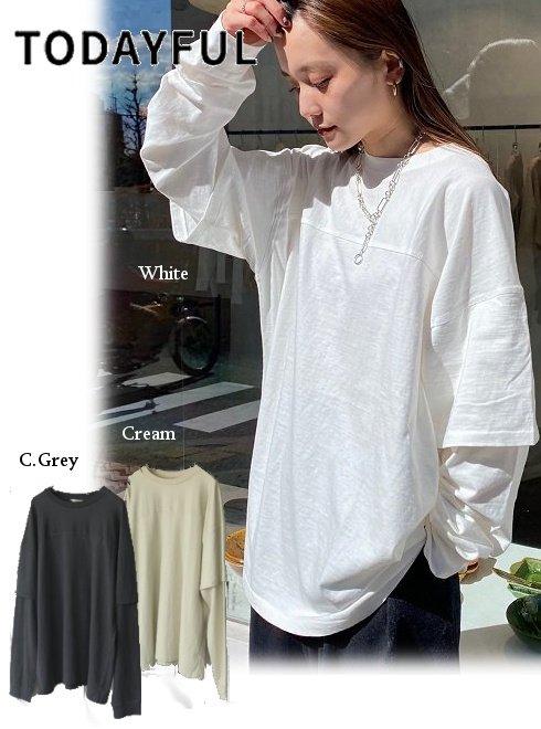 TODAYFUL (トゥデイフル)<br>Cotton Layered Longtshirts  21春夏【12110609】シャツ・ブラウス     21gw