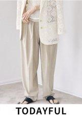 TODAYFUL (トゥデイフル)<br>Highwaist Tuck Trousers  21春夏予約【12110703】パンツ 入荷予定 : 2月中旬〜  春受注会