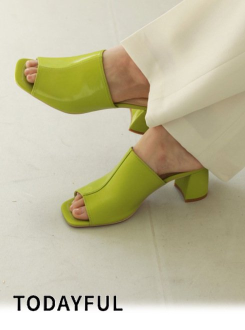 TODAYFUL (トゥデイフル)<br>Square Open Sandals  21春夏【12111007】サンダル  春受注会